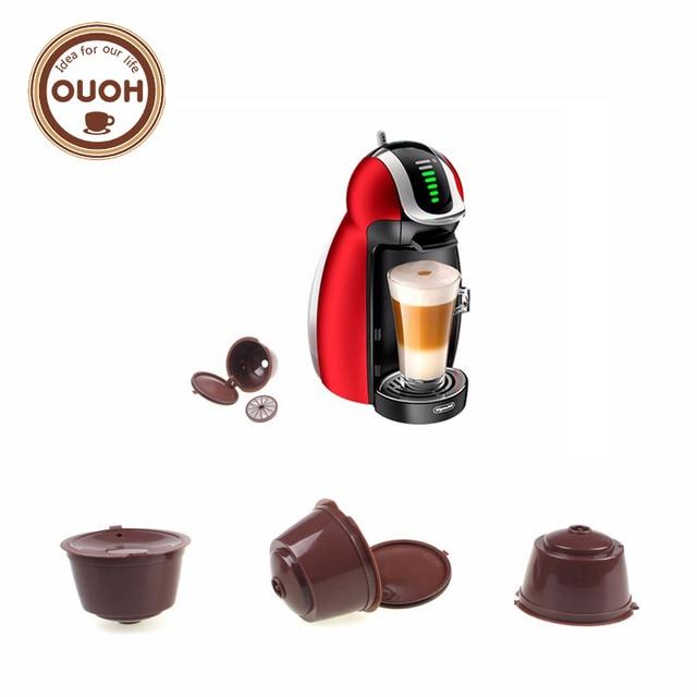 3 piezas/4 piezas paquete uso 150/200 veces recargable Dolce Gusto Cápsula de café Nescafé dolce gusto reutilizable cápsulas dolce gusto