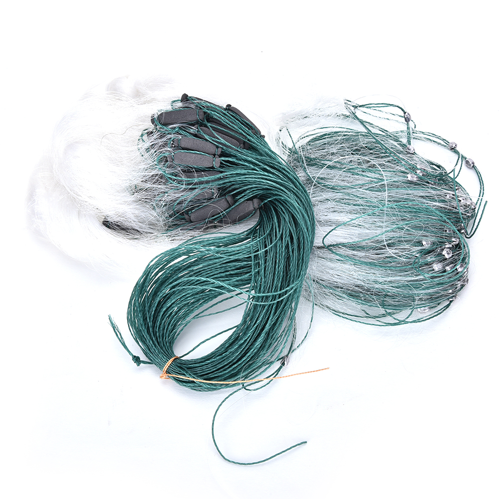 1pc Hot Sale 3 Layers Monofilament Gill Fishing Net with Float Fish Trap Rede De Pesca Nylon Fishing Net 25m Accessory Tools in Fishing Net from Sports Entertainment