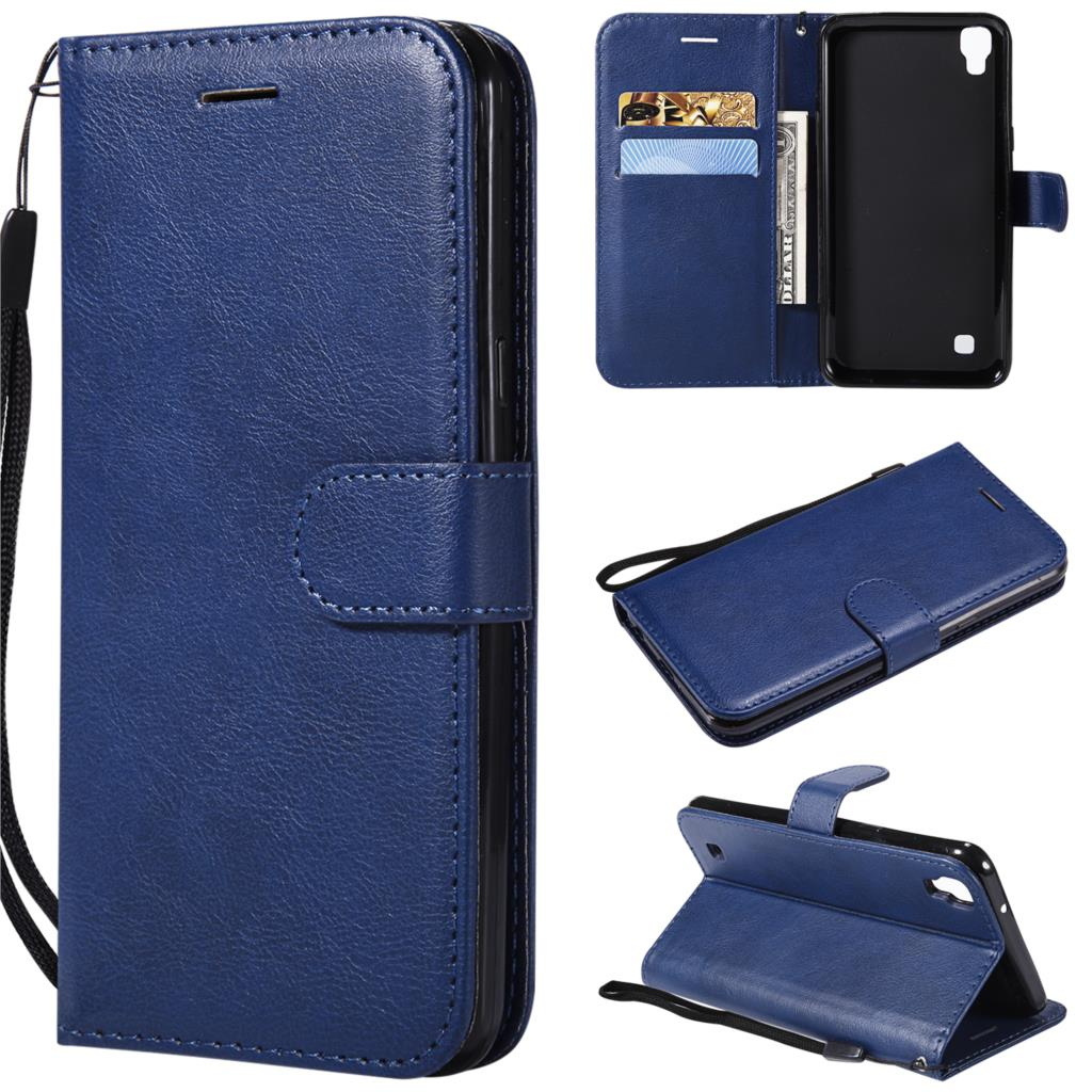Leather Case For coque <font><b>LG</b></font> <font><b>X</b></font> <font><b>Power</b></font> K220 case Flip solid card holder fundas For coque XPower <font><b>K220DS</b></font> Wallet Cover Stand Phone Cases image