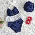 1-8Y Baby Girls Swimwear Two Pieces Summer Baby Swim Toddler Bathing Suit Dot Girls Swimwear Princess Bikini Infant Swimwear
