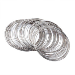 65mm Platinum Color Steel Memory Wire for Bracelets Necklace making DIY Jewelry Finding about 100 circles/unit F60