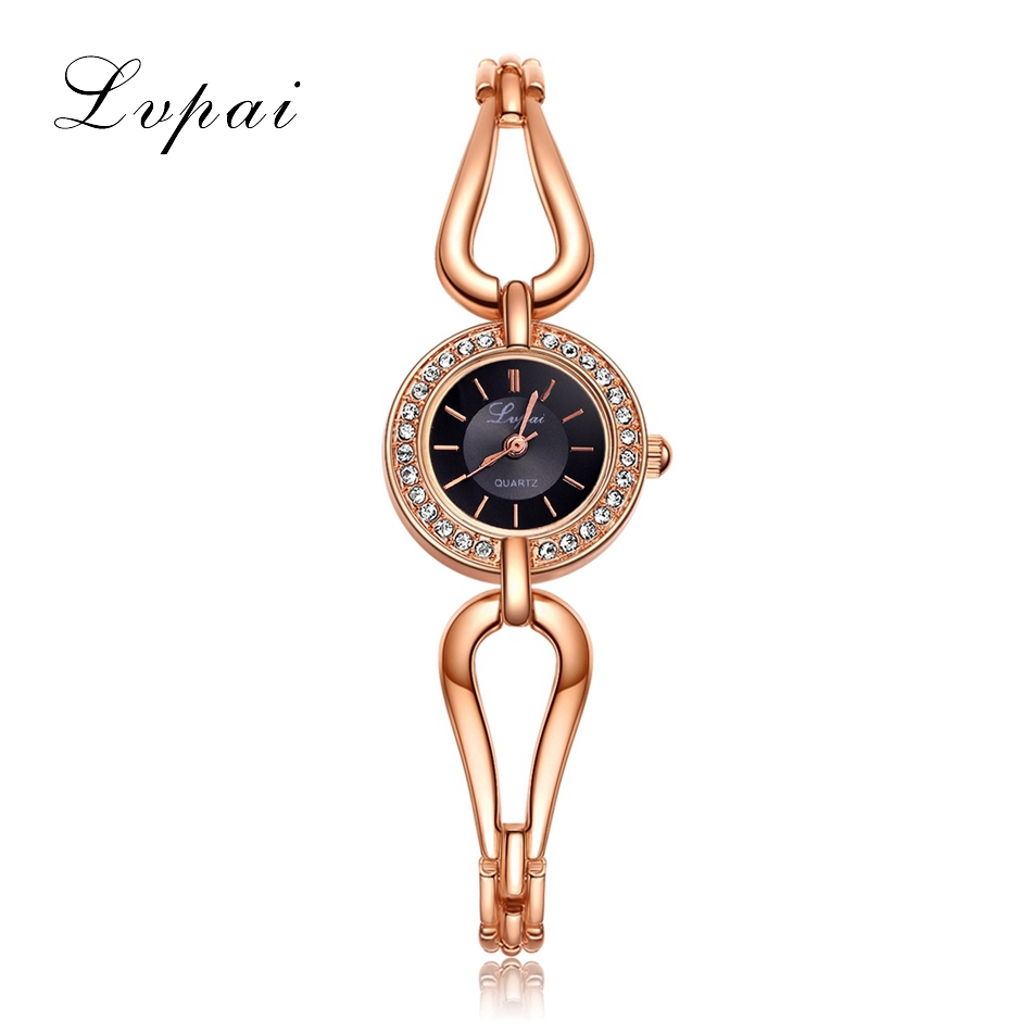 Lvpai New Brand Gemstone Luxury Watches Women Bracelet Watch Wristwatch Watches Women Dress Fashion Casual Female Watch flip a word stop pop