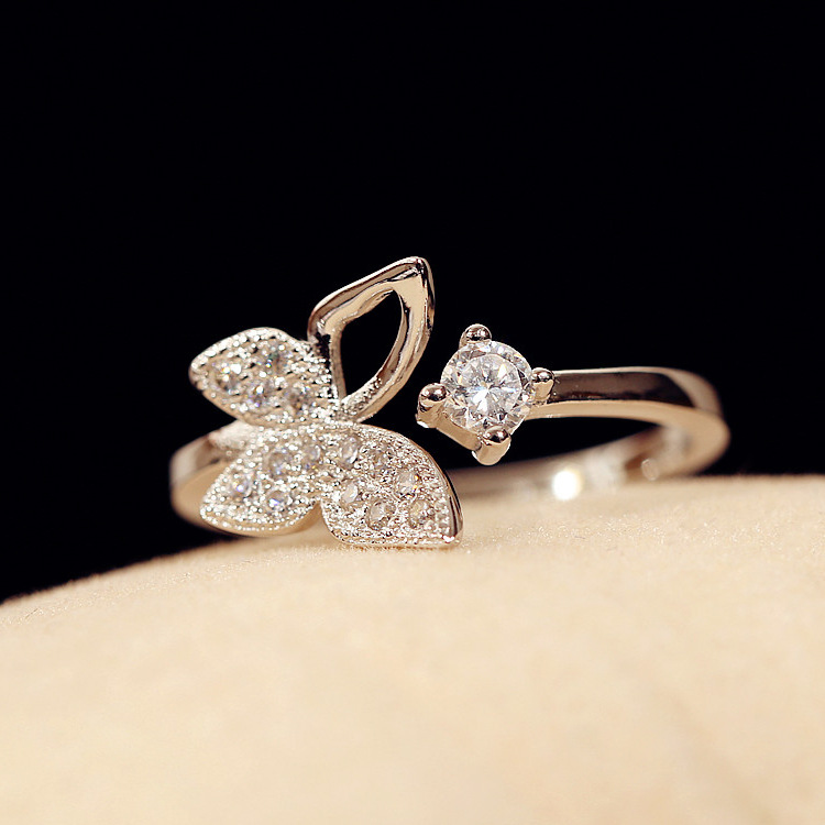 Butterfly Promise Ring Cute Rings For Womens