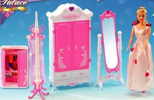 ツ)_/¯Juegos de muebles para Barbie accesorios casa rosa Barbie ...