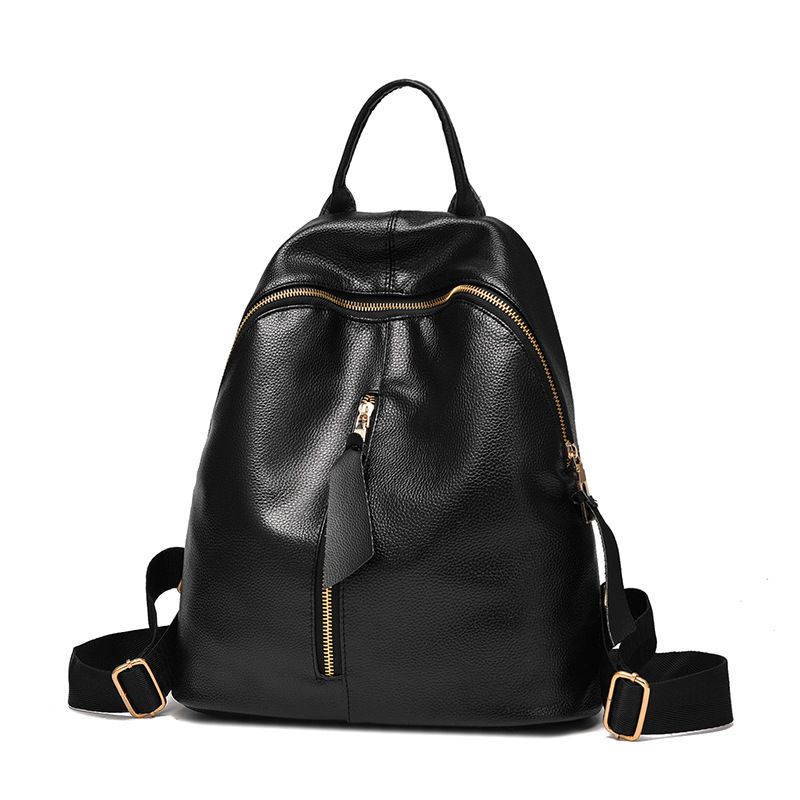 Fashion Women Backpack High Quality PU Leather Mochila Escolar School Bags For Teenagers Girls Top-handle Backpacks Travel Bags