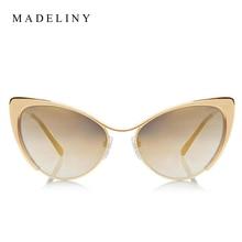 Fashion Metal Cat Eye Sunglasses Women Brand Designer Cat Eye Sun Glasses Sexy Oculos De Sol Feminino Hot Sale MA051