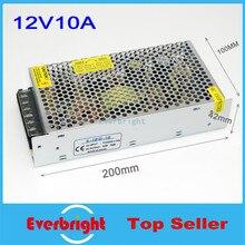 Оптовые ПРИВЕЛО Питания 12 В 10A 120 Вт СВЕТОДИОДНЫЙ драйвер переключатель 12 В DC LED трансформатор 110 В/220 В СВЕТОДИОДНЫЕ Полосы адаптер