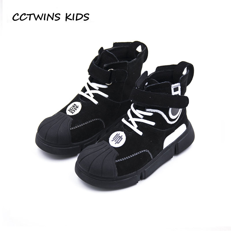 CCTWINS KIDS 2018 Autumn Children Fashion High Top Sneaker Baby Boy Brand Sport Shoe Girl Genuine Leather Trainer FH2333 cctwins kids 2017 spring high top usb rechargeable lighted girl brand trainer baby boy shoe led children fashion sneaker f1312