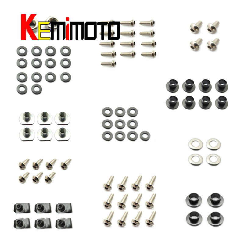For KATANA 1100 Motorbike Fairing Bolt Screw Fastener Nut Washer For SUZUKI KATANA 1100 1988 1989 1990 1991 1992 1993 комбо для гитары boss katana mini