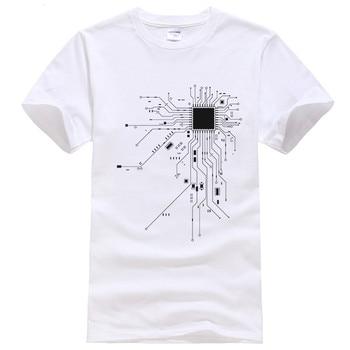 Men GEEK Nerd Monster Hacking PC Player Team CPU Core T-shirt 2018 Summer Printed Cotton O-neck Tshirts Casual T-shirts