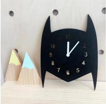 Nursery & Kids Decor Clock Nordic Style Batman,cat,Bear Wall Hanging Wood Toys Model Baby Kid Room Furnish Artic Home Decoration