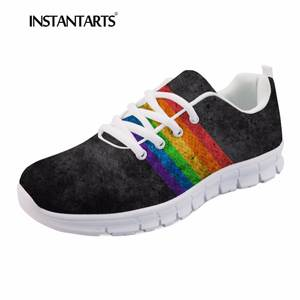 7db8bb20951ea6 INSTANTARTS Women s Casual Flats Shoe Comfortable Sneaker
