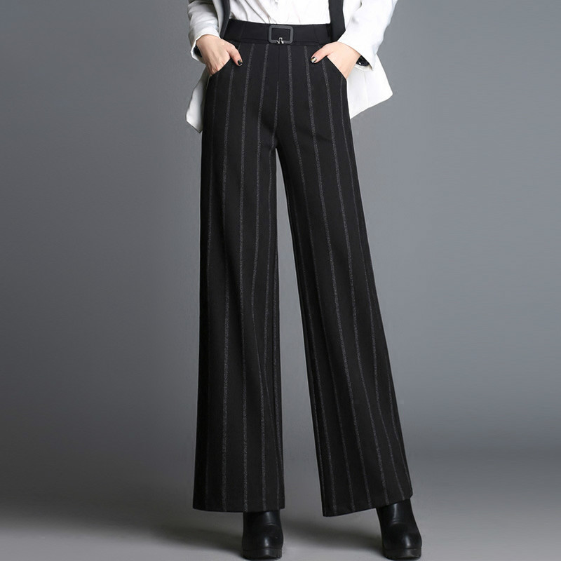 Autumn and winter new Korean version of   wide     leg     pants   loose trousers   pants   wild thin dress   pants