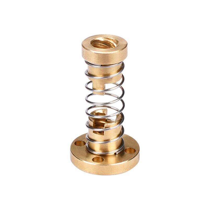 T8 Anti Backlash Spring Loaded Nut Elimination Gap Nut For 8mm Acme Threaded Rod Lead Screws DIY CNC 3D Printer Parts