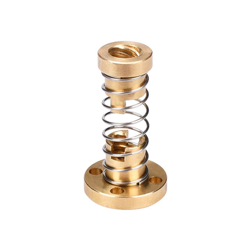T8 Anti Backlash Spring Loaded Nut to Eliminate Gap of Acme Threaded Rod as 3D Printer Parts