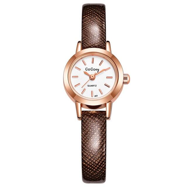 4755611e650b GOGOey marca de lujo mujeres Relojes de moda Rhinestone señoras vestido de  estudiante reloj de cuarzo