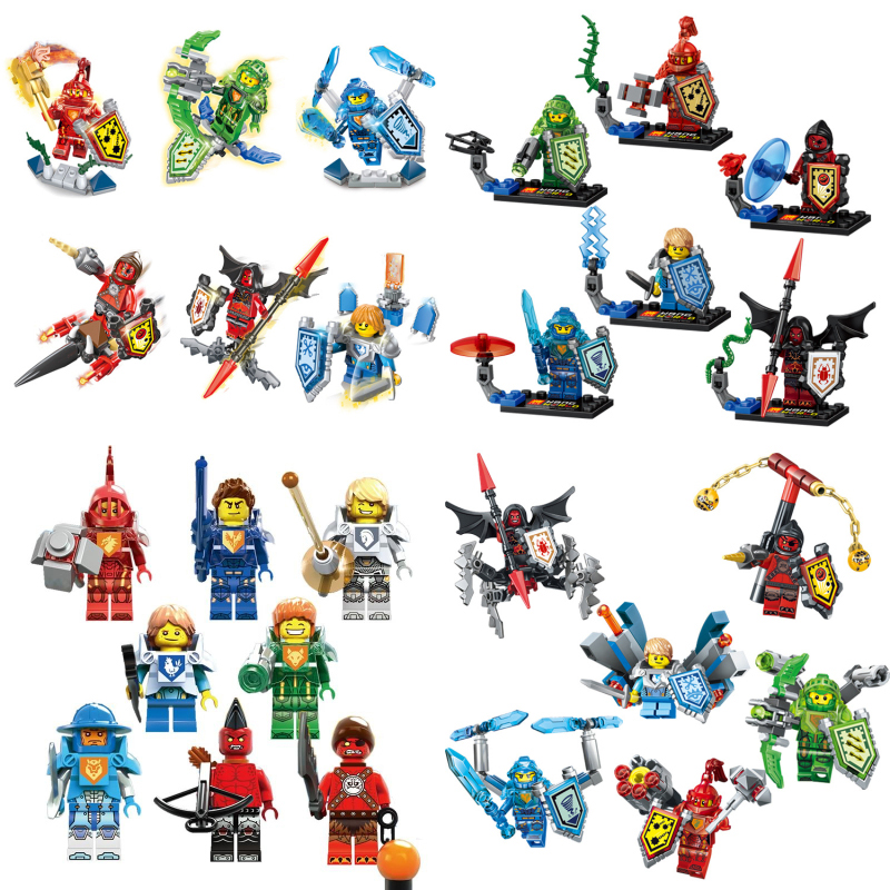 6pcs lot Nexo Knights Future Castle Warrior Ulimate Marvel Building Blocks Kits Toys Minifigures Compatible Legoe