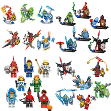 6pcs/lot Nexo Knights Future Castle Warrior Ulimate Marvel Building Blocks Kits Toys Minifigures Compatible Legoe Nexus