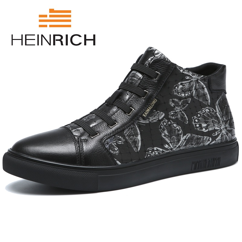 HEINRICH Brand Men Casual Shoes Breathable Lace-Up Sneakers Men Spring Autumn Lightweight Comfortable Personality Shoes MenHEINRICH Brand Men Casual Shoes Breathable Lace-Up Sneakers Men Spring Autumn Lightweight Comfortable Personality Shoes Men