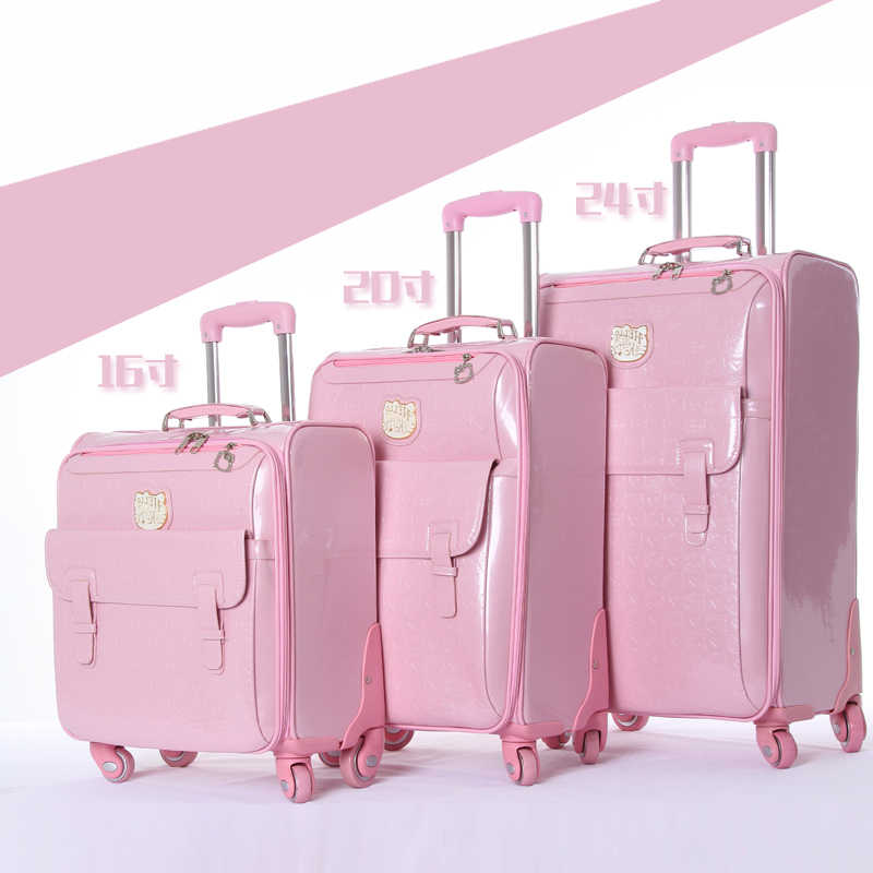 0a7d1561b248 GraspDream Lovely 16 inch Cosmetic bag hello Kitty 20 24 inches girl  students trolley case Travel