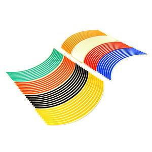 Image 5 - ملصقات ملونة للعجلة مقاس 17/18 بوصة ملصقات عاكسة للعجلة شريط حاشية لـ HODNA CB500 CB600 CB750 CB900 CB1000 CB1300