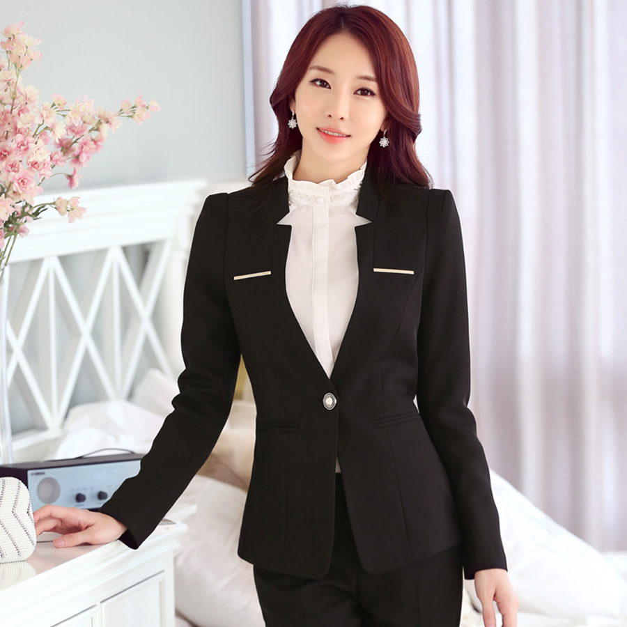 Plus Size Women Blazers And Jackets Long Sleeve Blazer Feminino Manga Longa Female Jacke ...