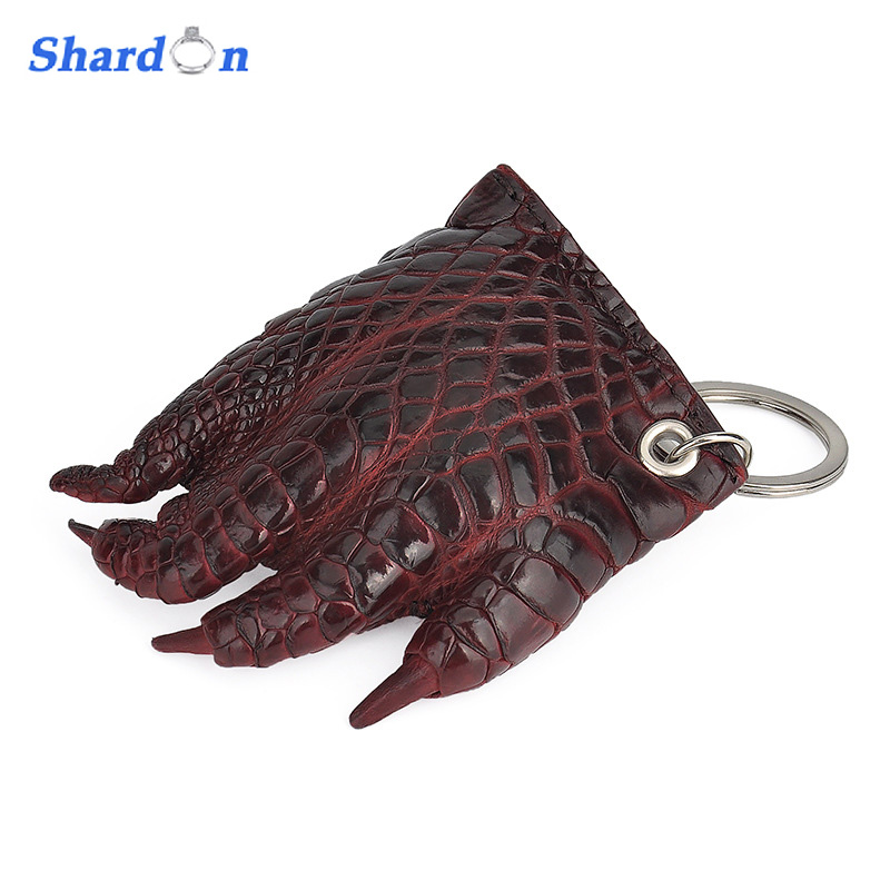 SHARDON Fashion Real Crocodile skin Keychain Colorful alligator Track Car KeyChain bathroom mirror 8 dual makeup mirror 1 1 and 1 3 magnifier square copper cosmetic bathroom double faced bath mirror