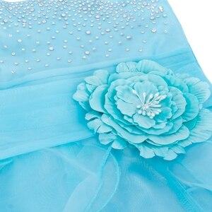 Image 5 - TiaoBug Kids Cô Gái Không Tay Prom Gown Flower Girl Dresses Công Chúa Đám Cưới Rước Bữa Tiệc Tốt Nghiệp Váy với Bowknot 2 14Y