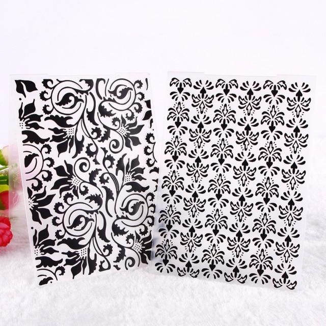 1 unidad hermosa rosa flor patrón plástico repujado carpetas DIY artesanía Scrapbooking decoración #230981