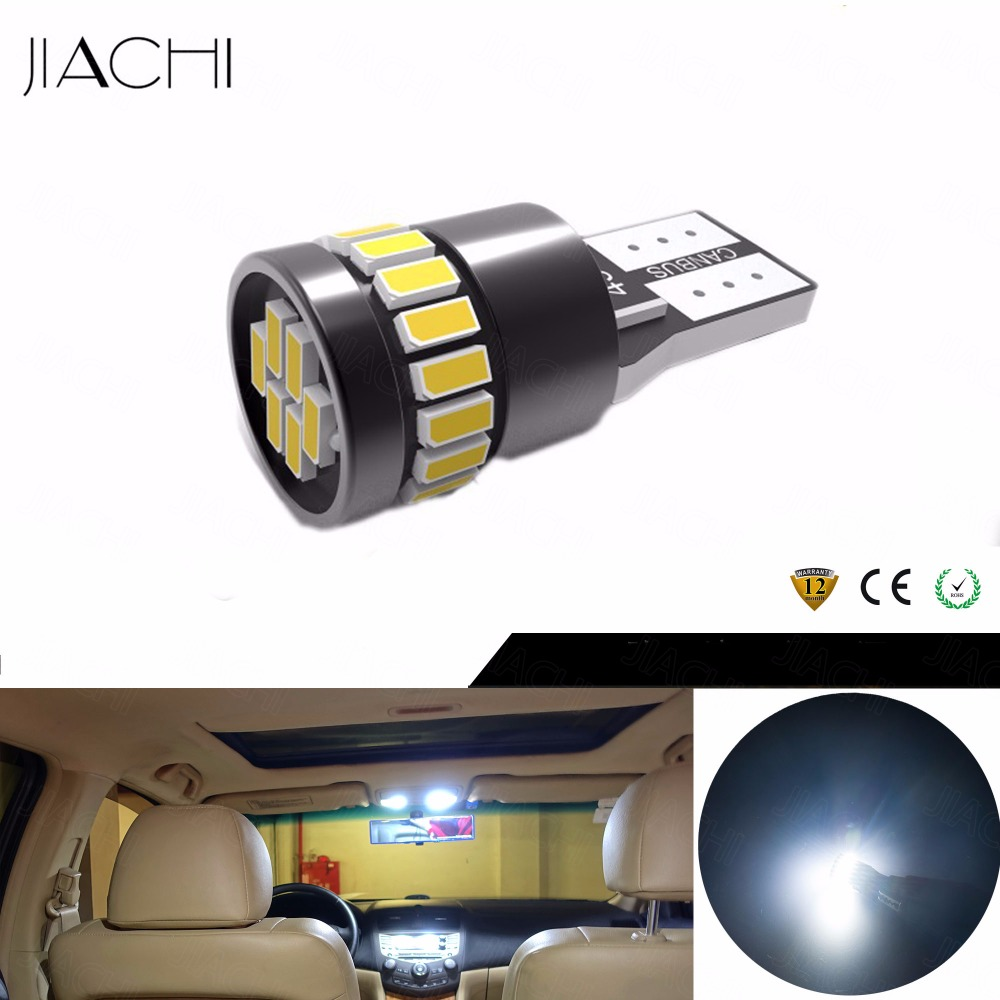 JIACHI 100PCS Lot Wholesale T10 W5W 194 LED Bulbs CANBUS Error Free For Car Interior Lighting
