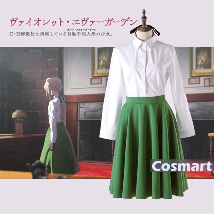 [STOCK]Anime Auto Memories Doll figure Violet Evergarden School JK Uniform +Gloves+Socks Cosplay Costume NEW 2018