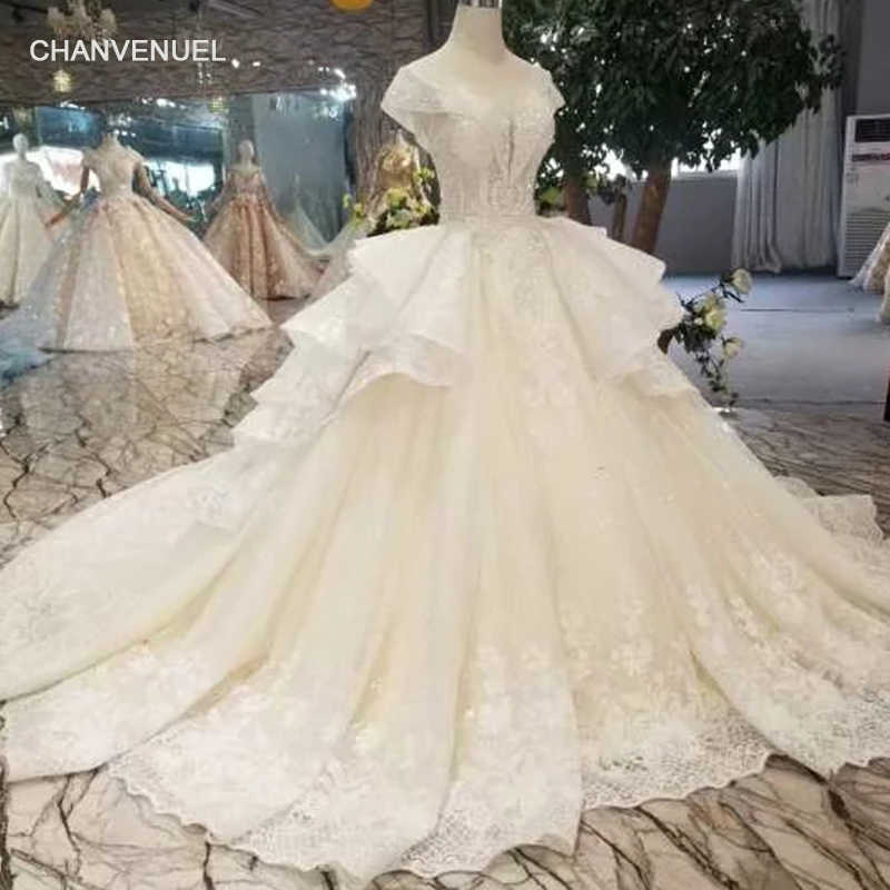 ... sleeve lace up plus size formal rhinestone bodice applique latest design.  RELATED PRODUCTS. LSS416 luxury ball gown wedding dress with multi-layer  skirt ... cd1bfb645d35