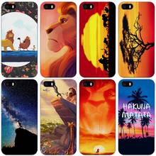 hakuna matata lion king Black Plastic Case Cover Shell for iPhone Apple 4 4s 5 5s SE 5c 6 6s 7 Plus