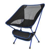 Blue-Ultralight Folding Chair Superhard High Load Outdoor Portable Chair
