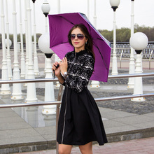 4pcs/lot Five fold 70T superlight 5 times black coating anti-uv umbrella fiberglass butterflies love flowers compact parasol цена 2017