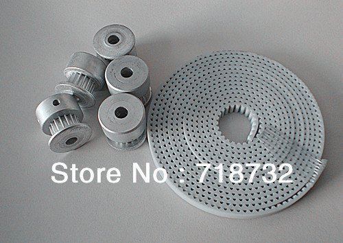 free ship 16 tooth T2.5 6mm width timing pulley and open belt set and 20 tooth T2.5 10mm width timing pulley and belt set t5 timing pulley with 25mm width 20 teeth and 25mm belt width t5 timing belt
