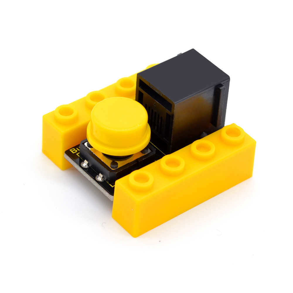 Kidsbits Blocks Coding Button Module For Arduino STEAM EDU (Black And Eco Friendly)