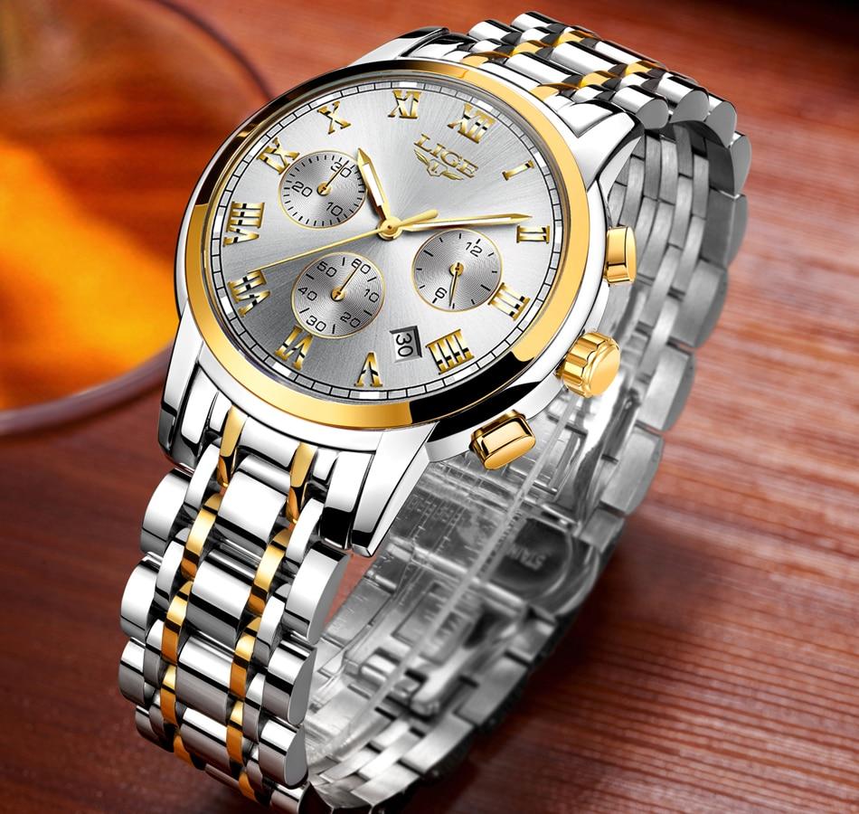 HTB1s9EPX3LD8KJjSszeq6yGRpXaV LIGE Men Watches Top Luxury Brand Full Steel Waterproof Sport Quartz Watch Men Fashion Date Clock Chronograph Relogio Masculino