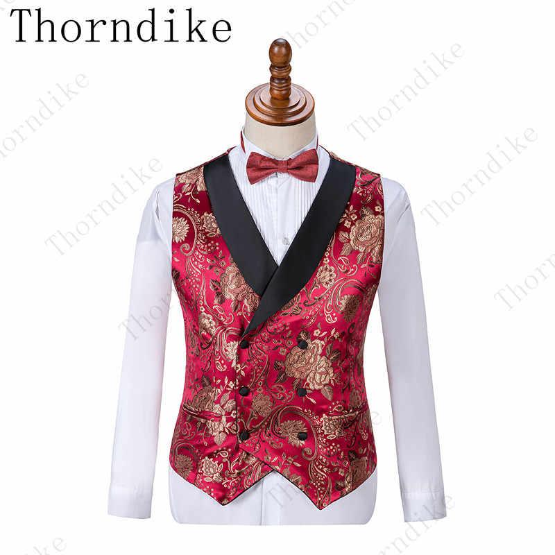 Классический стиль жениха смокинг шаль лацкан друг жениха костюм красный богатый цветок Свадебный костюм на заказ Мужская куртка + брюки + жилет