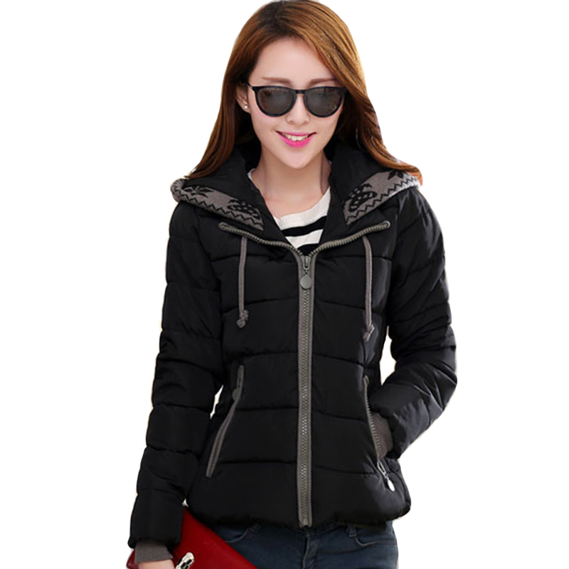 New Design 2019 Winter Jacket Women Hooded Cotton Padded Outwear Female Coat Casaco Feminino Inverno Short   parka
