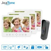 JeaTone Video Door Phone Doorbell Intercom System 7 TFT HD Indoor Monitor 1 Aluminum Outdoor Camera