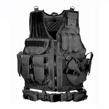 лучшая цена Adjustable Army Tactical Training Combat Vest Outdoor Hunting Airsoft Molle Vest Military Paintball Wargame Protective Waistcoat