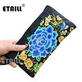Ethnic Boho Embroidered Ladies Purse Wallet Clutch Bag Embroidery Bag Luxury Famous Brand Clutch Bags 2016 Embrague Bolsos de