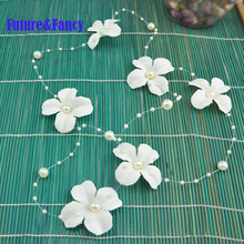 Фотография Future and Fancy Pearl Beads Wedding Party DIY Decorations Garland Wedding Centerpiece 45 mm 8 mm + 3 mm Decoration 1.3 m/piece