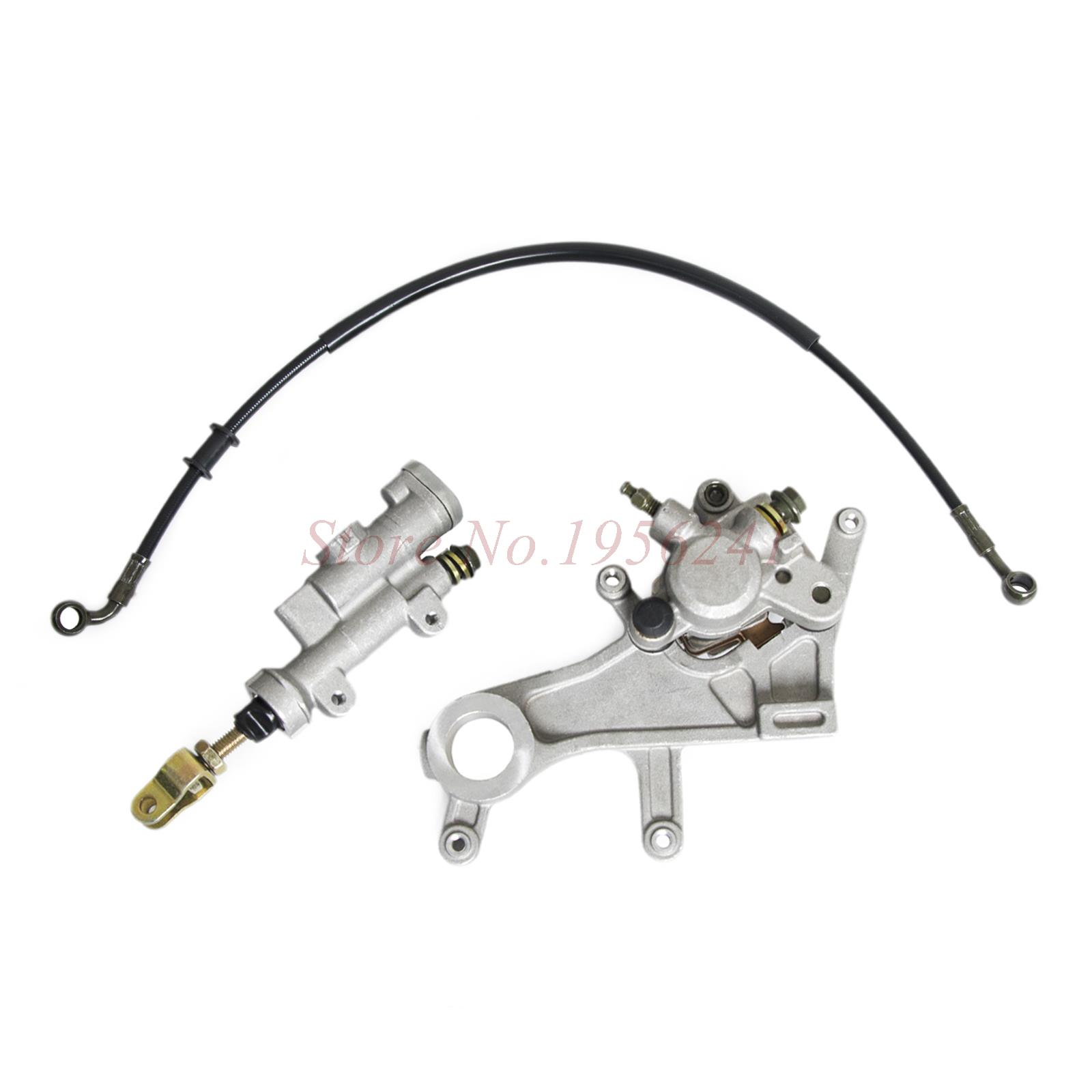 Rear Brake Caliper Master Cylinder & Brake Oil Hose Pipe & Pads For Honda CR125R CR250R CR 125R 250R 2002 - 2007 CR125 CR250 R стоимость