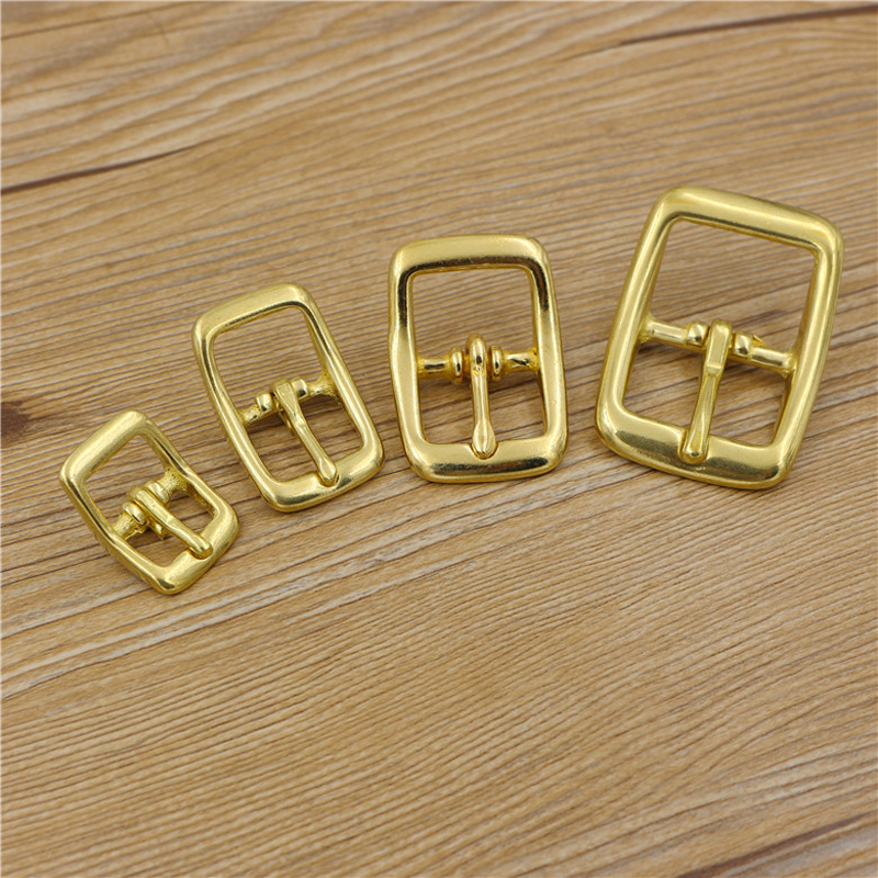 Home & Garden Knowledgeable Leather Craft Diy Tri Glide Bag Pin Belt Buckle Bend Design Solid Brass Material 5pcs/lot Factories And Mines