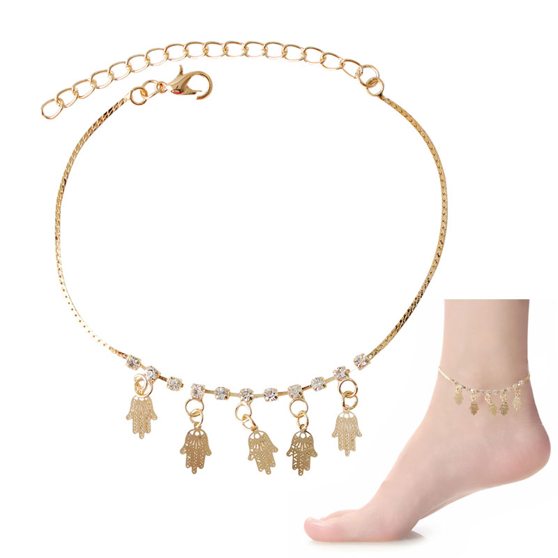 Confident F&u Best Selling 2016, Sexy Women Love Ankle Chain Anklet Foot Fashion Gold Silver Color Palm Beach Girl Lady Sandal Anklets