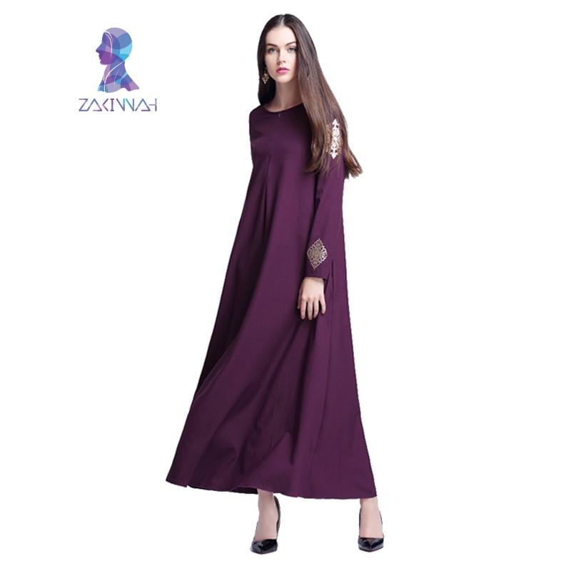 Robe imprimée longue musulmane pour femmes longue Dubaï caftan - Vêtements nationaux - Photo 3