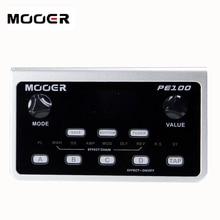 Baru Mooer PE100 Gitar Portable Multi Efek Prosesor LCD Display Pedal 40 Pola Drum dan 10 Metronom