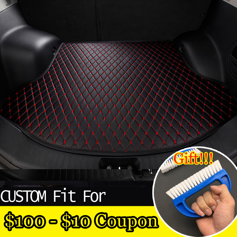 Car Stickers Fit Car Trunk Leather Mat For Nissan Rogue Versa Cube X-trail Qashqai 3d Car-styling Heavyduty Carpet Cargo Liner Up-To-Date Styling